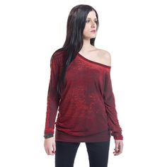 - burnout - longsleeve - casual fit - wide hem  As casual as it gets: this red…