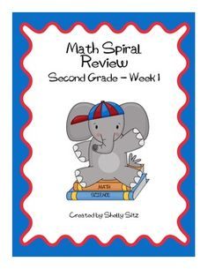 This Daily Math Spiral Review is a great way to provide extra practice and review of various math skills taught in second grade. I like to use them...