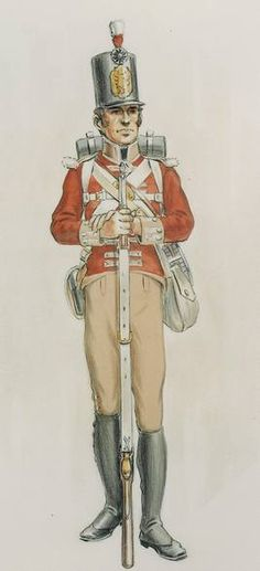 Private of the 104th Regiment of Foot.    http://discover1812.blogspot.ca/2012/11/a-canadian-regiment.html