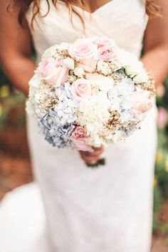 buque rosa branco e azul romantico - Pesquisa Google