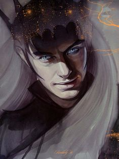 Melkor by kimberly80.deviantart.com on @deviantART. I hate the character, but I love this design for him before he was bound to his dark lord guise.