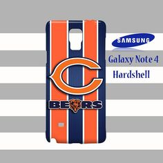 Chicago Bears Logo Style Metal Samsung Galaxy Note 4 Case Cover
