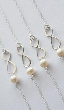 bridesmaid bracelets! @Christina Larson OMG we need these just because! Hah.
