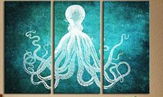 Octopus Seal Life 3 Canvas Artwork