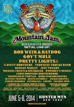 Mountain Jam 2014 Initial Line-up