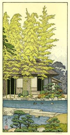 Image result for Friendly Garden by Toshi Yoshida, 1980. 3.7k saves