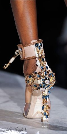 5.19.15 Shoes shoes shoes - what would this world be without women wearing high heels like these? the jewelry and detail of these shows makes me want to wear this every single day.