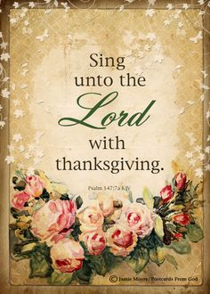 Sing Unto The Lord / Scripture / Art - 5x7 Inch Digital Collage Image / Ready to…