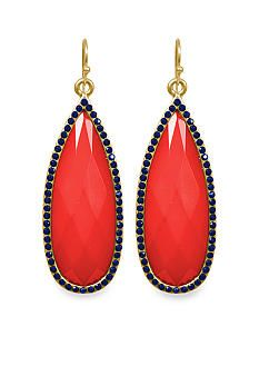 Towne & Reese Red Coral Campbell Earrings