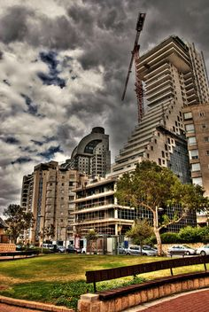 *NETANYA, ISRAEL ~ actually the small one of the building where my family's apt is.