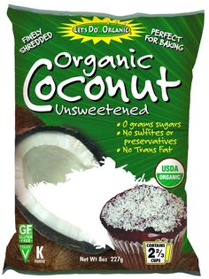 8 oz Shredded Coconut Sulfite Free by LET'S DO ORGANIC - Wild Mountain Paleo Market