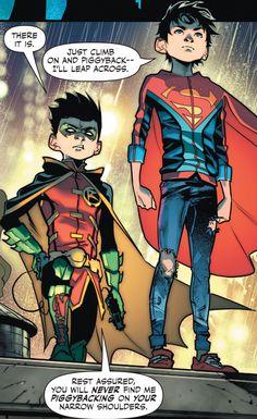 Lol Damian Wayne and Superboy