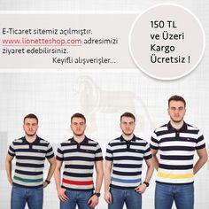 E-Ticaret sitemiz şimdi yayında.  www.lionetteshop.com adresini ziyaret edebilirsiniz. Keyifli alışverişler.  #erkekgiyim #mensfashion #menswear #polotshirt #poloyakatshirt #tshirt #ringeltshirt #turkey #istanbul Polo Tshirt, Istanbul