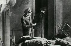 This is the last known photo of Hitler Shortly before committing suicide in his underground Führerbunker, Hitler stepped outside with an SS officer to survey nearby bomb damage from Allied forces.