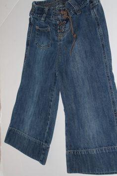 Wide leg capri jeans, Size 5
