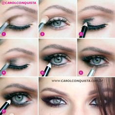 Tutorial em fotos - Make clássica www.carolconquista.com.br www.youtube.com/pkartemakeup #blog #blogueira #blogger #guru #youtuber #maquiagem #makeup #brasil #brazil #beauty #beleza #cilios #lashes #lips #batom #lipstick