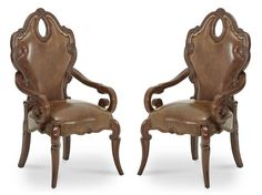 AICO Furniture - Sovereign Arm Chair Set of 2 - 57444N-51
