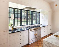 Historic Home Revamp via Southpark Magazine - The English Room Kitchen Hoods, Kitchen Stove, Kitchen Redo, Home Decor Kitchen, Kitchen Interior, New Kitchen, Home Kitchens, Kitchen Remodel, Kitchen Cabinets
