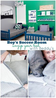 DIY Soccer Futbol Room Ideas!  From bedding to signs to decor-we've got ya covered!