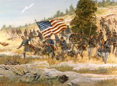 20th Maine,  counter-attack at Gettysburg.