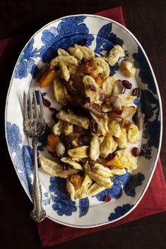 Spätzle with Butternut Squash, Shallot and Cranberry Sauce