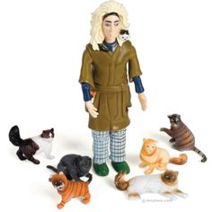 The Quirky-Crazy Cat Lady Action Figure