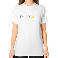 Royal Unisex T-Shirt (on woman)