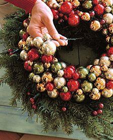 Martha Stewart Christmas Decorations | Urn Topper - Martha Stewart Holidays