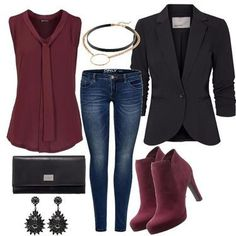 sweet bordeaux only Fall Outfits For Work, Winter Outfits, Classy Outfits, Stylish Outfits, Mode Outfits, Fashion Outfits, Stitch Fix Outfits, Winter Mode, Fashion Capsule