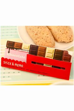 Cute paper sticky notes and memo of chocolate. This sticky note set will be great for decorative use and craft projects. A must have for Scrapbooking,