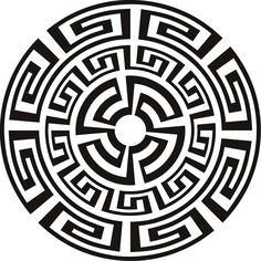Aztec Pattern- Black and White Mandala | Aztec | Pinterest