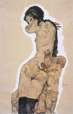 Egon Schiele, Artistic Anatomy on ArtStack #egon-schiele #art