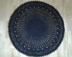 Crochet round rug 55'' 140 cm/Crochet by AnuszkaDesign on Etsy