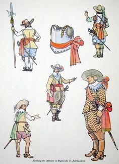 Kleidung Offiziere zu Beginn 17. Jhd. Types Of Armor, 17th Century Clothing, Thirty Years' War, Early Modern Period, Conquistador, Modern Warfare, American Revolution, Modern Artwork, Roman Empire