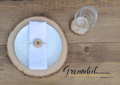Rustic Wood Table Setting, Solid Oak,Reclaimed, Raw, UNTREATED! Wooden Slices, Dinner Party Decor, Wedding Decoration Handmade in the USA!