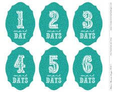 DIY Holiday Countdown {Free Download} in 4 colours