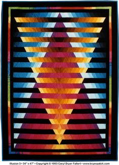 Illusion #3© 1993, Quilt Art Record by Caryl Bryer Fallert
