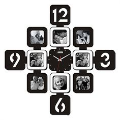 Decorative Clocks - Picture Frames Wall Clock - Modern Wall Clock with Picture Frame 28""