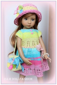 "R M Dollfashion 2016 Summer Sale OOAK Outfit for Effner Little Darling 13"" Dolls…"