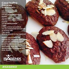 Woke up this morning in the mood to bake? Check out this whey protein Coco Cookie recipe by Teresa U.!