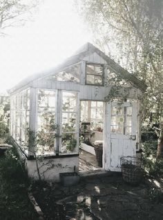 Shed Plans the peony and the bee - Lovely Life Now You Can Build ANY Shed In A Weekend Even If You've Zero Woodworking Experience! Patio Bohemio, Garden Cottage, Home And Garden, Garden Living, Glass House Garden, Glass Green House, Little Green House, Garden Leave, Garden Art