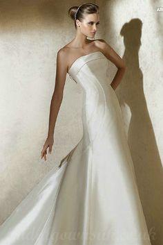 Satin Simple Wedding Dresses - Best Dresses for Wedding Check more at http://svesty.com/satin-simple-wedding-dresses/