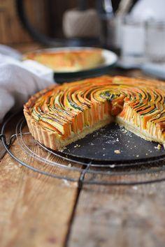 Gemuese Spiral Tarte - Vegetable Spiral Tart | Das Knusperstübchen