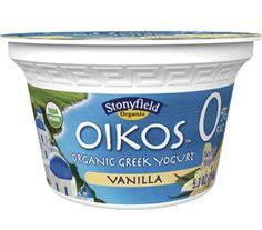 Oikos organic Greek nonfat yogurt. I add a scoop of IsoPure Zero Protein. Either Cookies n Cream of Banana Cream. SUPER YUMMY