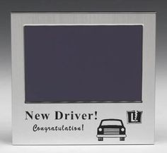 'New Driver' frame. Perfect for a snap of the new driver posing with their pass certificate or new car! Picture Gifts, Photo Picture Frames, New Drivers, Driving Test, Some Fun, Certificate, Celebrations, Christmas Gifts, Gift Ideas