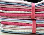 Eco Friendly Cloth Napkins for Wedding, Events made from Vintage Fabrics-  Set of 80 - Love DOT AND ARMY ON ETSY!!!
