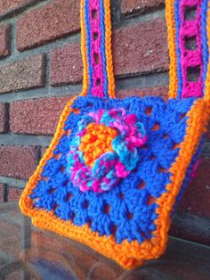 Flowered Granny Square Purse Small by AltmeyerArts on Etsy, $15.00