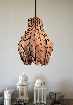 Pod #PendantLamp #Wood #Woodlamp @idlights Lamp Design, Lighting Design, Pendant Lamp, Pendant Lighting, Vegvisir, Wood Lamps, Filigree Design, Home And Deco, Leather Furniture
