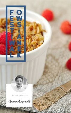Owsianka kokosowa pieczona Muesli, Healthy Sweets, Cereal, Breakfast, Fit, Author, Morning Coffee, Granola, Breakfast Cereal