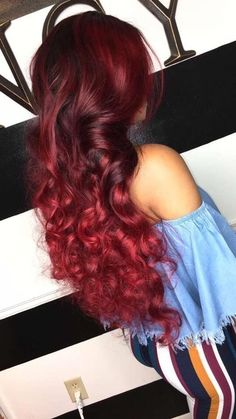 I envy ombre lace front human hair wig - rote Frisuren Cheap Human Hair, Human Hair Wigs, Love Hair, Gorgeous Hair, Amazing Hair, Black Girls Hairstyles, Pretty Hairstyles, Hair Colorful, Curly Hair Styles